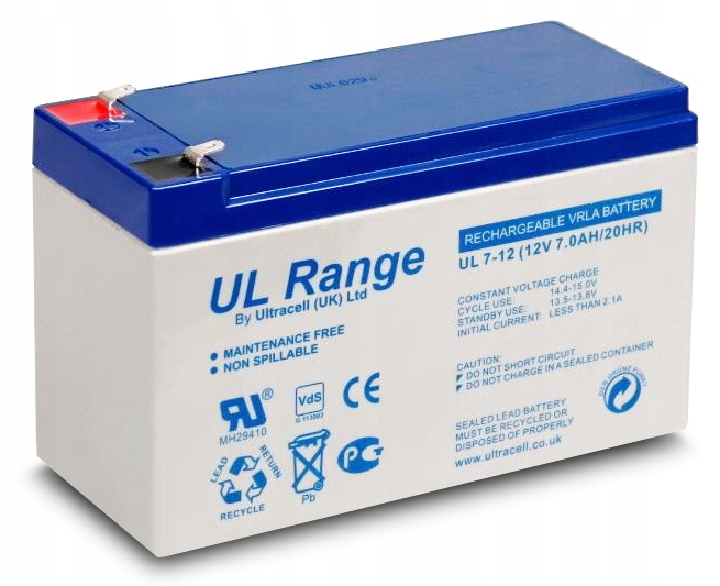 Item ULTRACELL GEL 12V 7AH BATTERY ALARM UPS