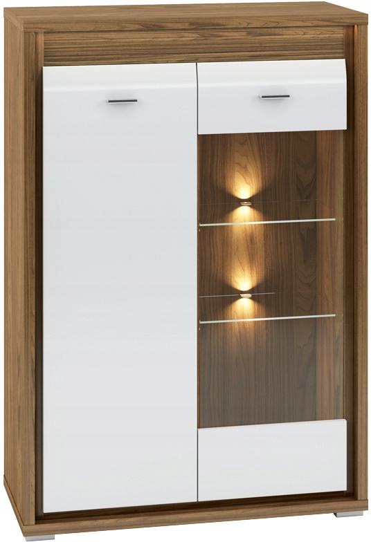 ДАЛЛАС 06 шкаф-витрина высотой 92 см со светодиодными полками