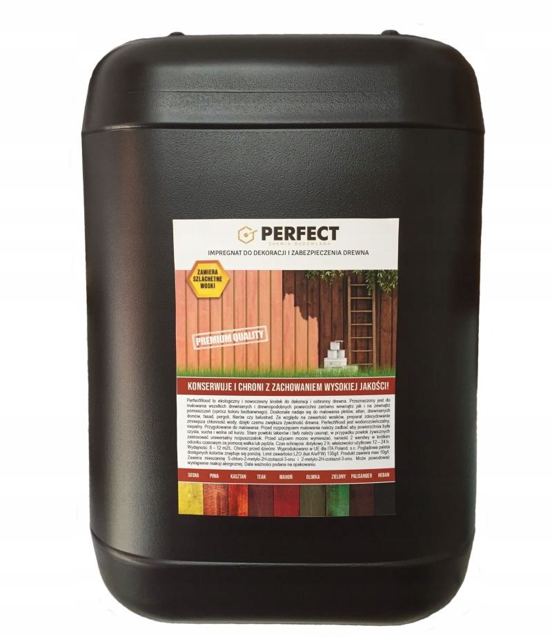 Impregnat do drewna PERFECT WOOD 10 L - 120 m2