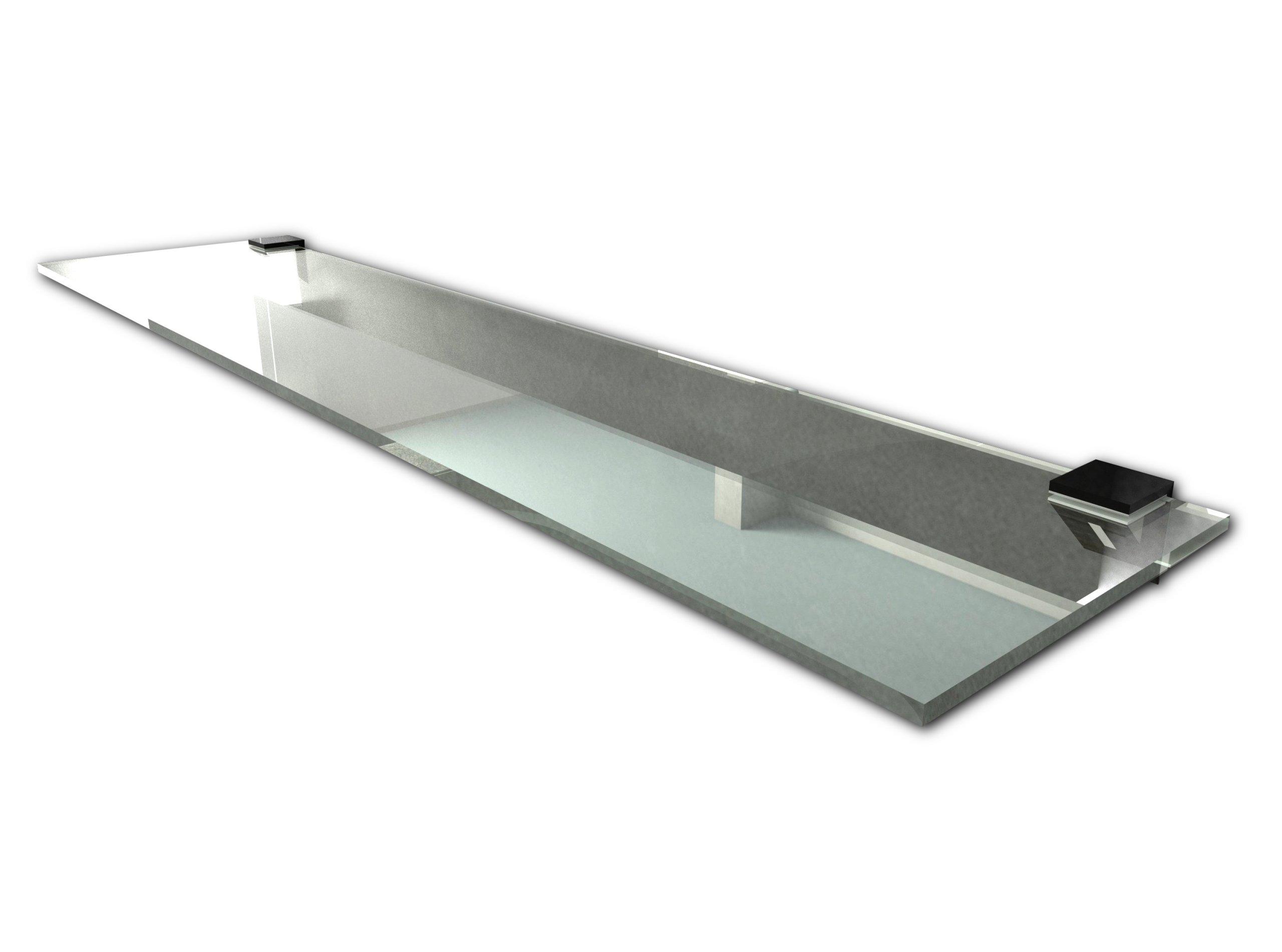 PÓŁKA SZKLANA łazienkowa pod lustro prysznic 40x14