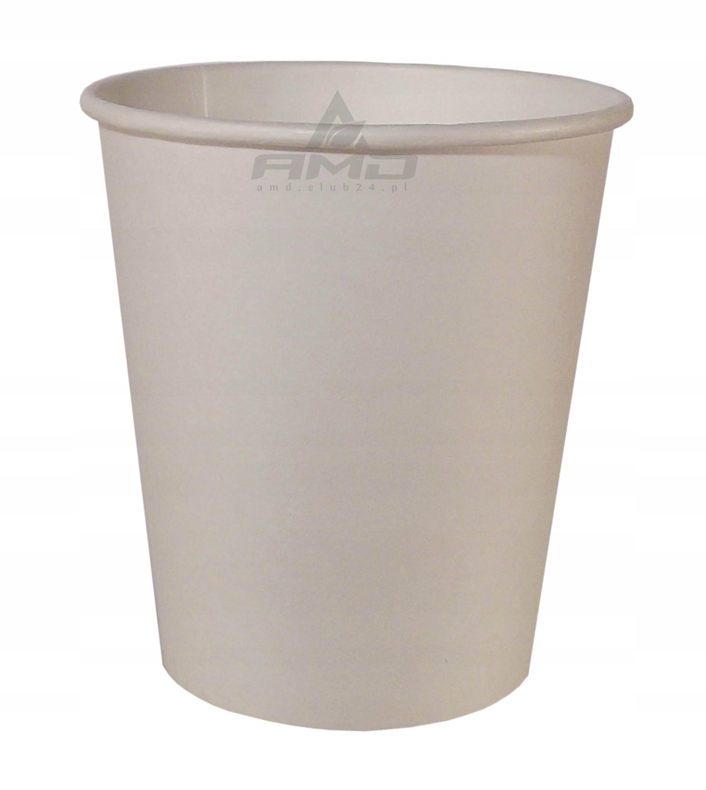 Biele Papierové poháre 250ml šálky 100ks hrnček