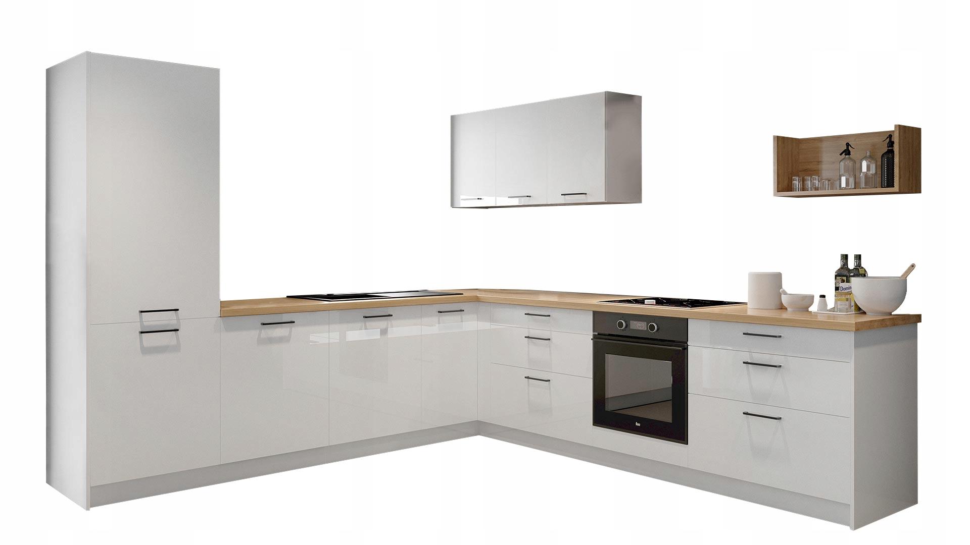 Biely nábytok pre kuchyne nastaviť Kammono A Lesk
