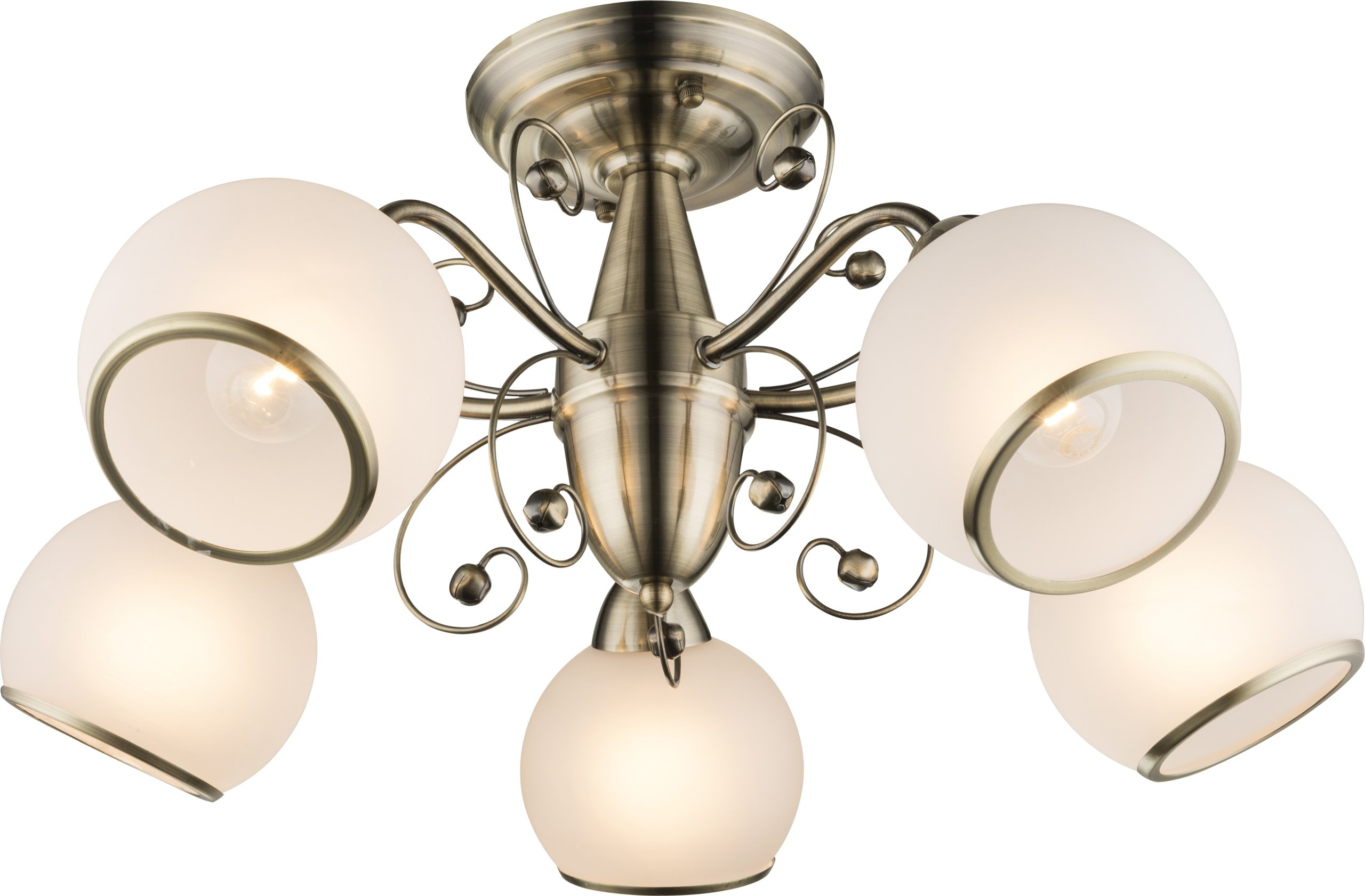 LUSTER A COMODORO 54713-5D MOSADZ Vintage GLOBO