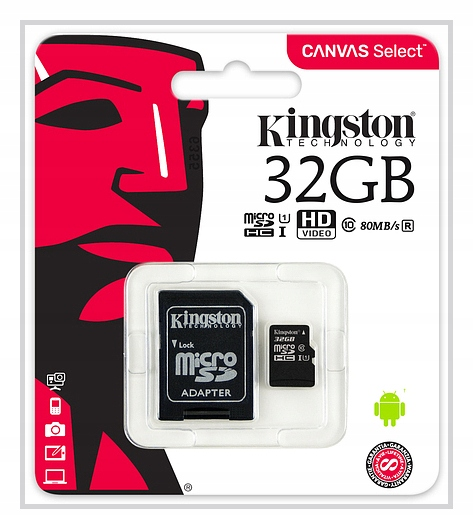 Item Kingston MEMORY CARD 32 GB MICRO SD C10+ ADAPTER