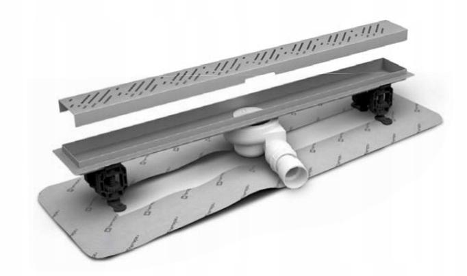 Lineárny výdaj je 65 cm dlaždice 8-12mm Radaway