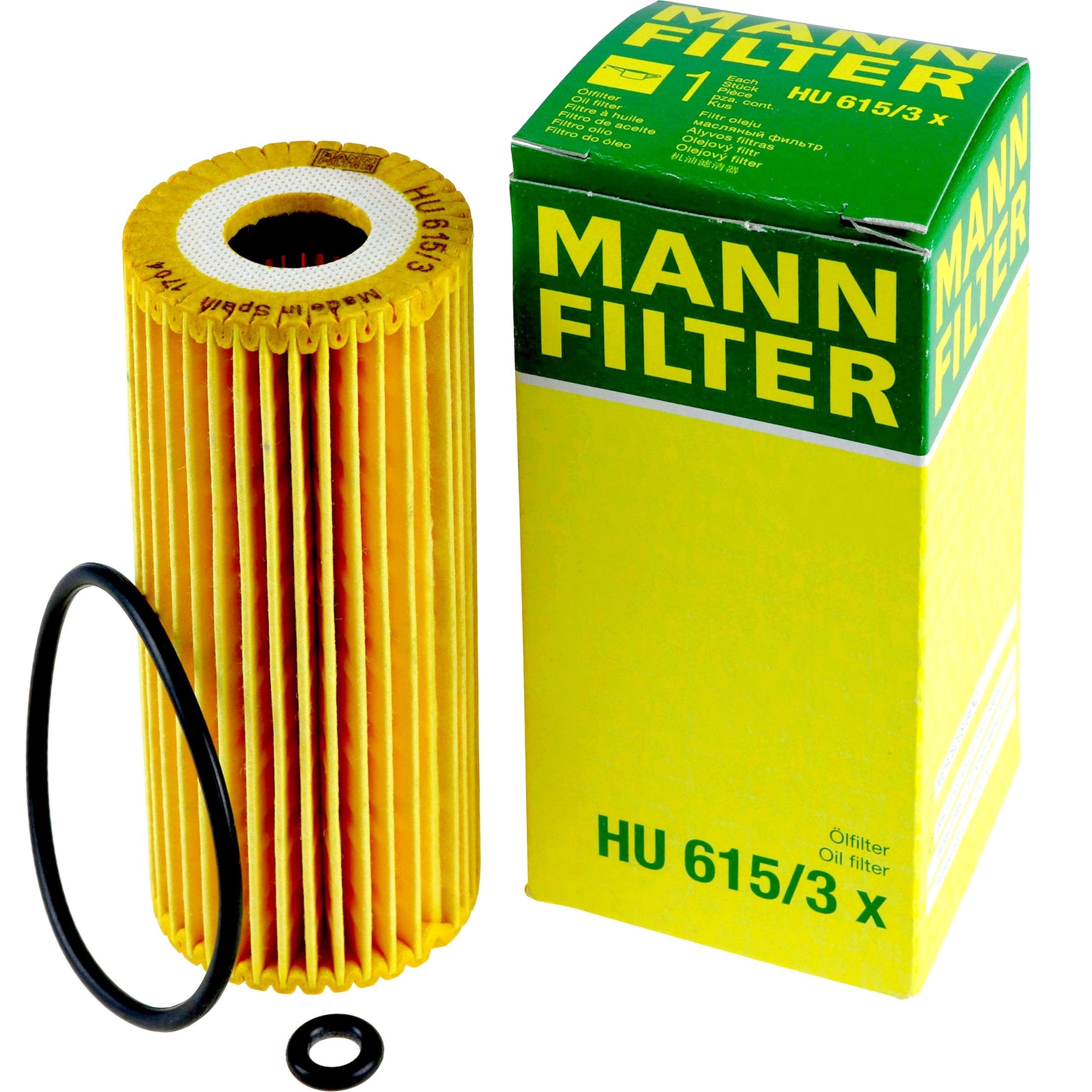 MANN-FILTER Ölfilter HU615//3x für MERCEDES-BENZ