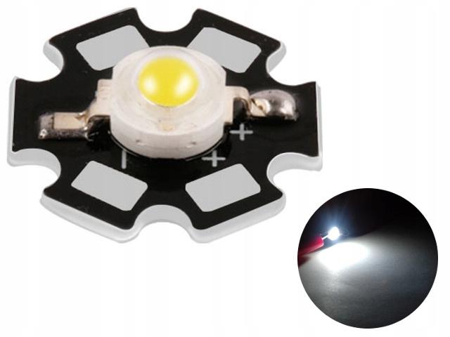 Светодиод POWER LED 3W 6500K BRIDGELUX на печатной ПЛАТЕ 45mil