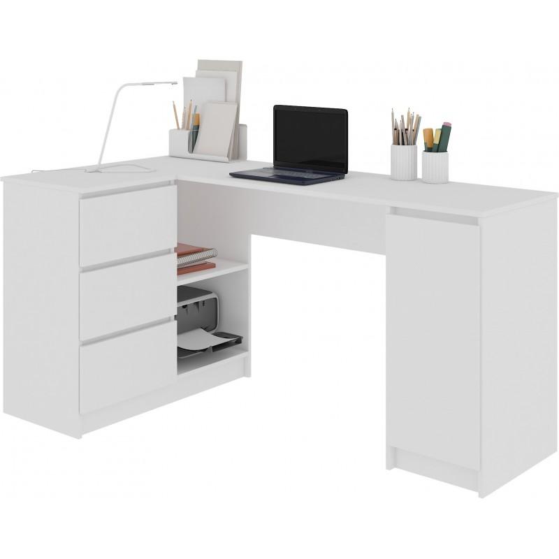 Biurko pod laptop A 6 konfiguracja prawostronne białe