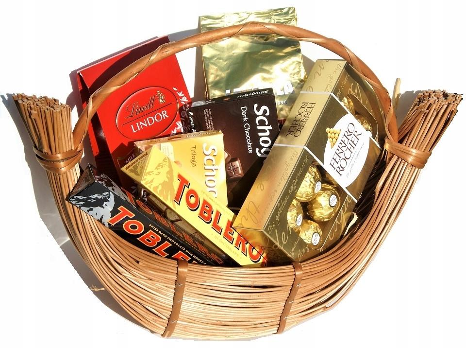 Košík darčekový kôš Sladkostí LINDT Káva Lavazza