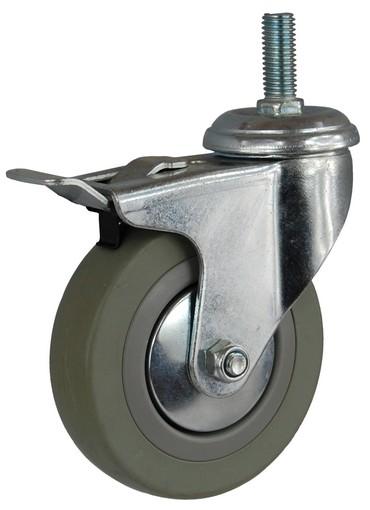 Kruh kolesa pre vozík 100 mm nití brzda