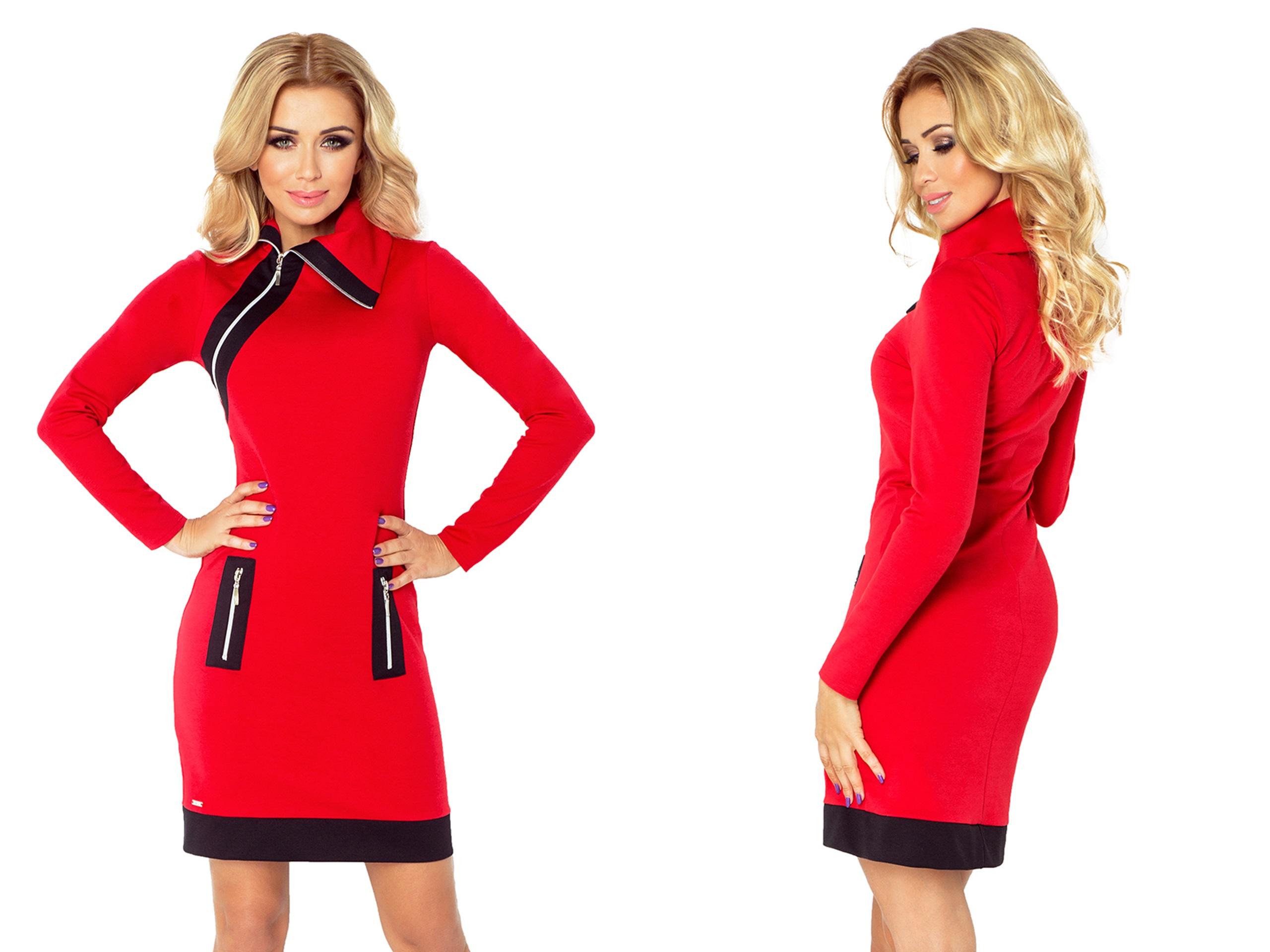 e9a8aa3184 MODNA Sukienka NA CO DZIEŃ DUŻE ROZMIARY 129-3 XXL 7288025940 - Allegro.pl