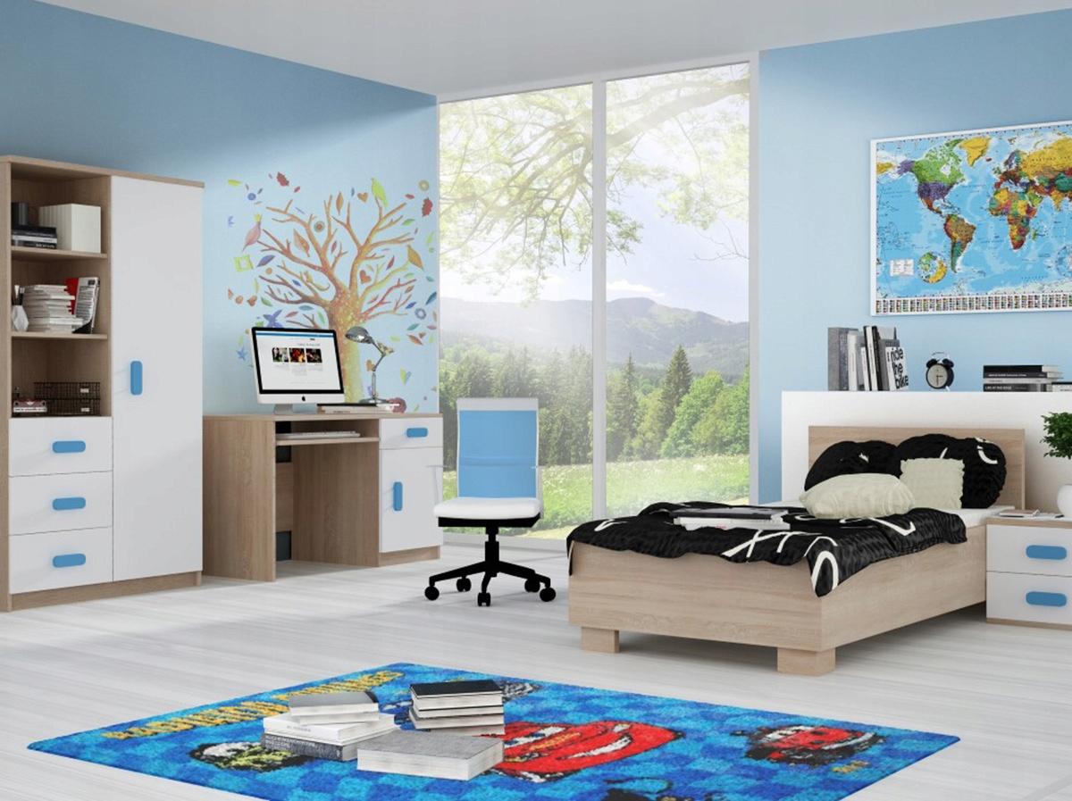 Detský nábytok set tabuľke dvojité BIELA Mat