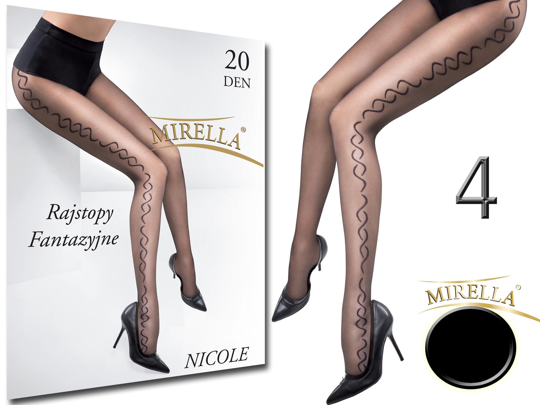 Mirella Rajstopy we wzory 20den Nicole 4(XL) Nero