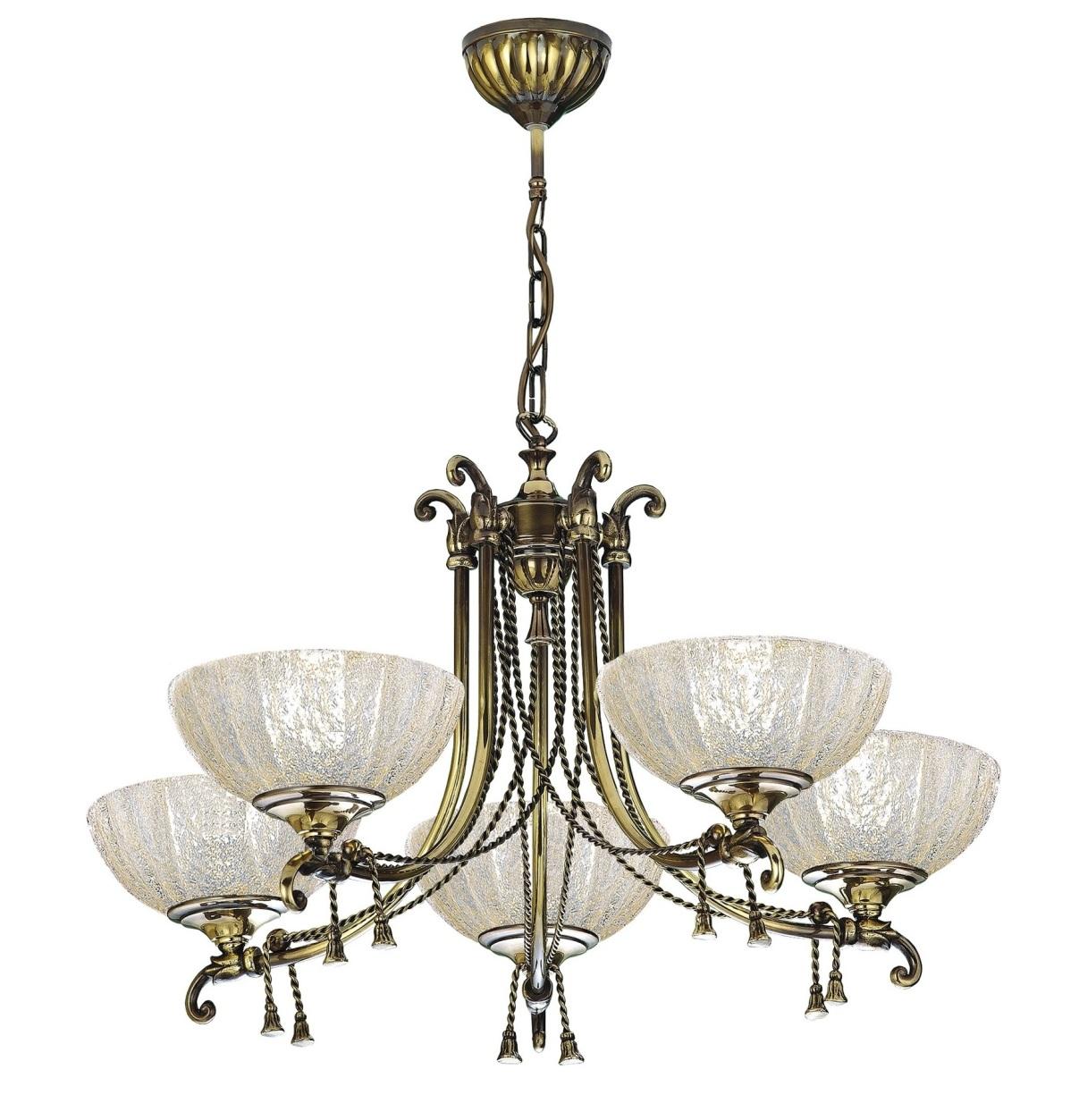 Klasický Luster Lampa Mosadz Amplex Granada