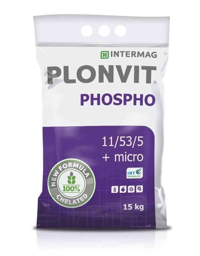 PLONVIT PHOSPHO 11/53/5+микро удобрение dolistny 2кг
