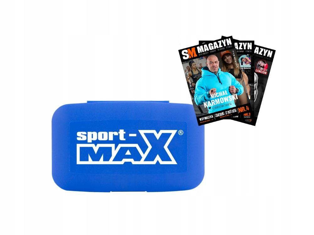 Šport-max pilulka Pudelko na kapsule a tablety