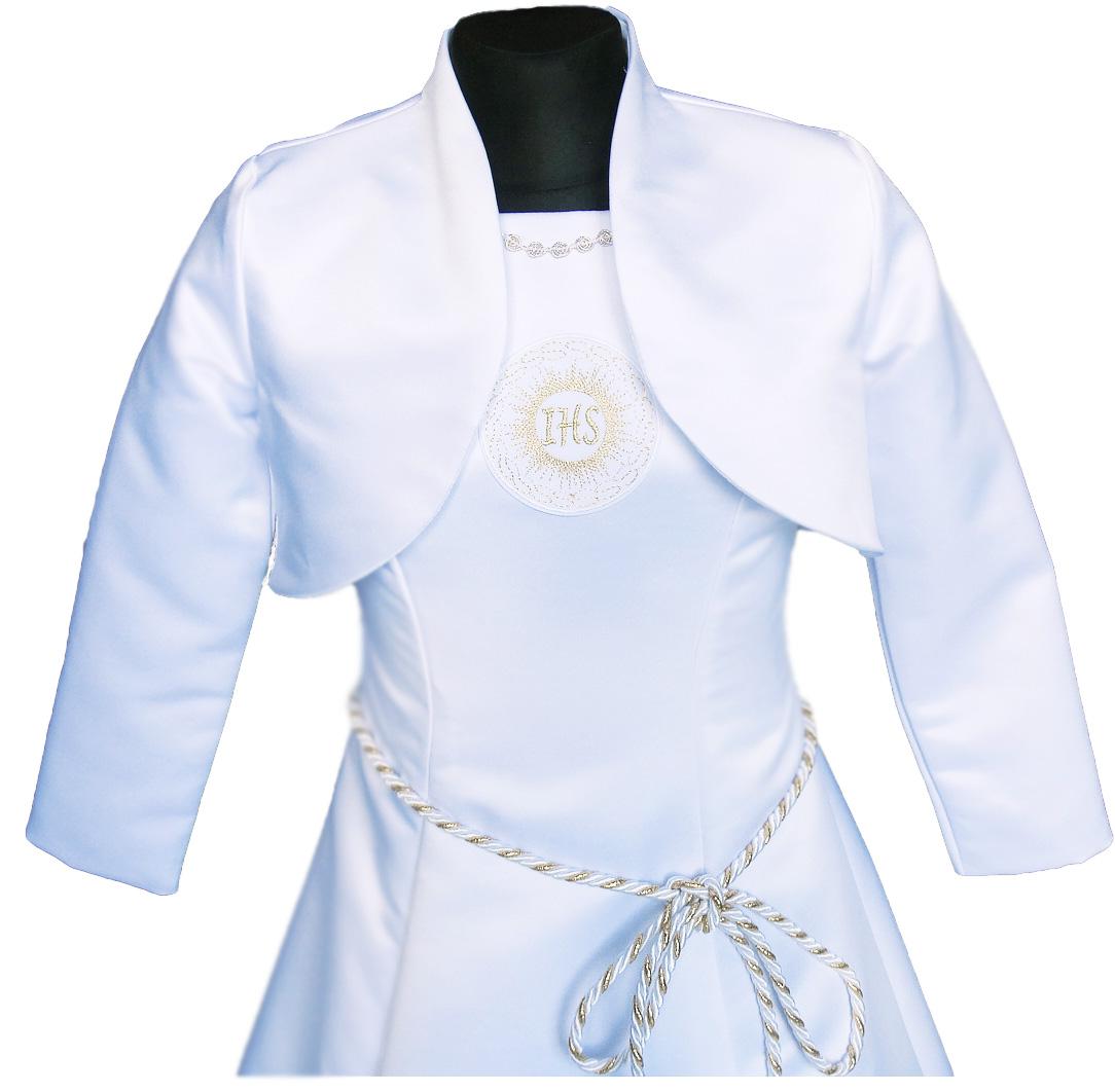 Bolero saténové svadobné šaty Alba 128 poľský