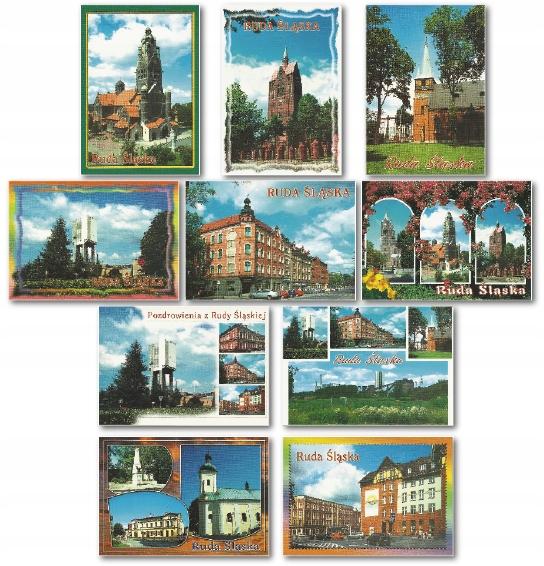 Ruda Śląská pohľadnica nastaviť 10 ks