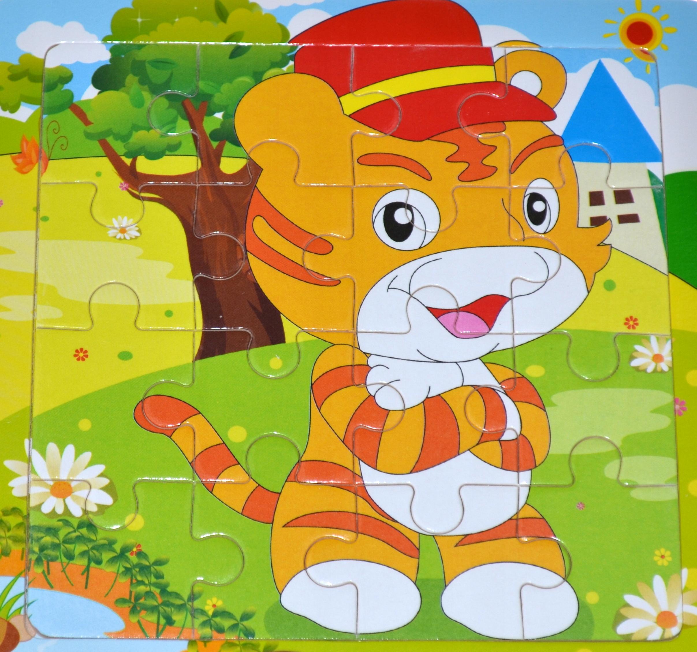 Vzdelávacie drevené puzzle 16 el.mega výber