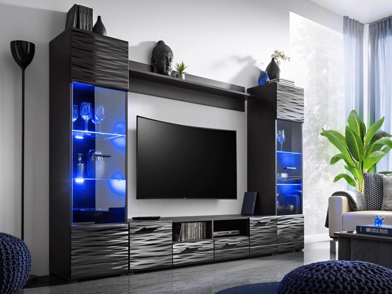 Мебель, стенка для гостиной MODICA LED FREE
