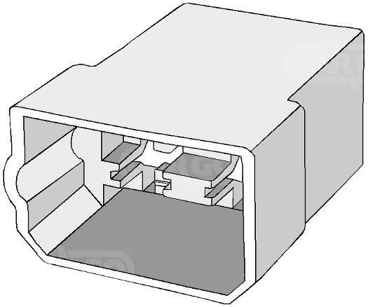 KUBAS VYRISKA SANDURI 4-pin na SKAIDRES 6,3mm