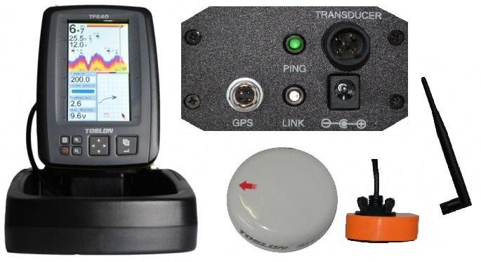 Echosonda Toslon TOSLON TF640 SONAR GPS RANGE 500m 2,4 g