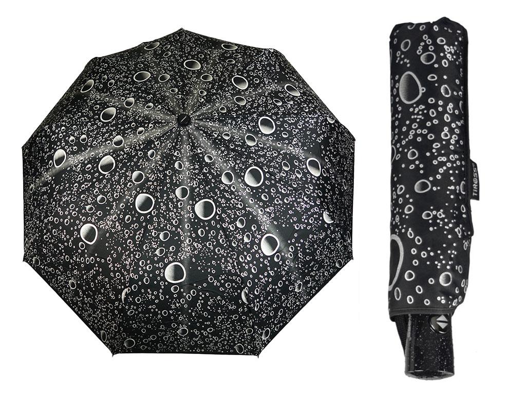 Dámske dáždniky Automatické 9 vodičov Black Case