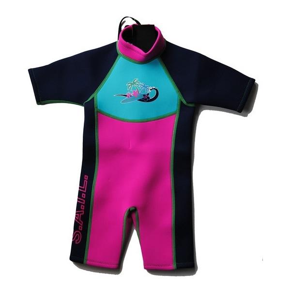 Bublina deti Shortie Surfer - ružová 1-2 roky
