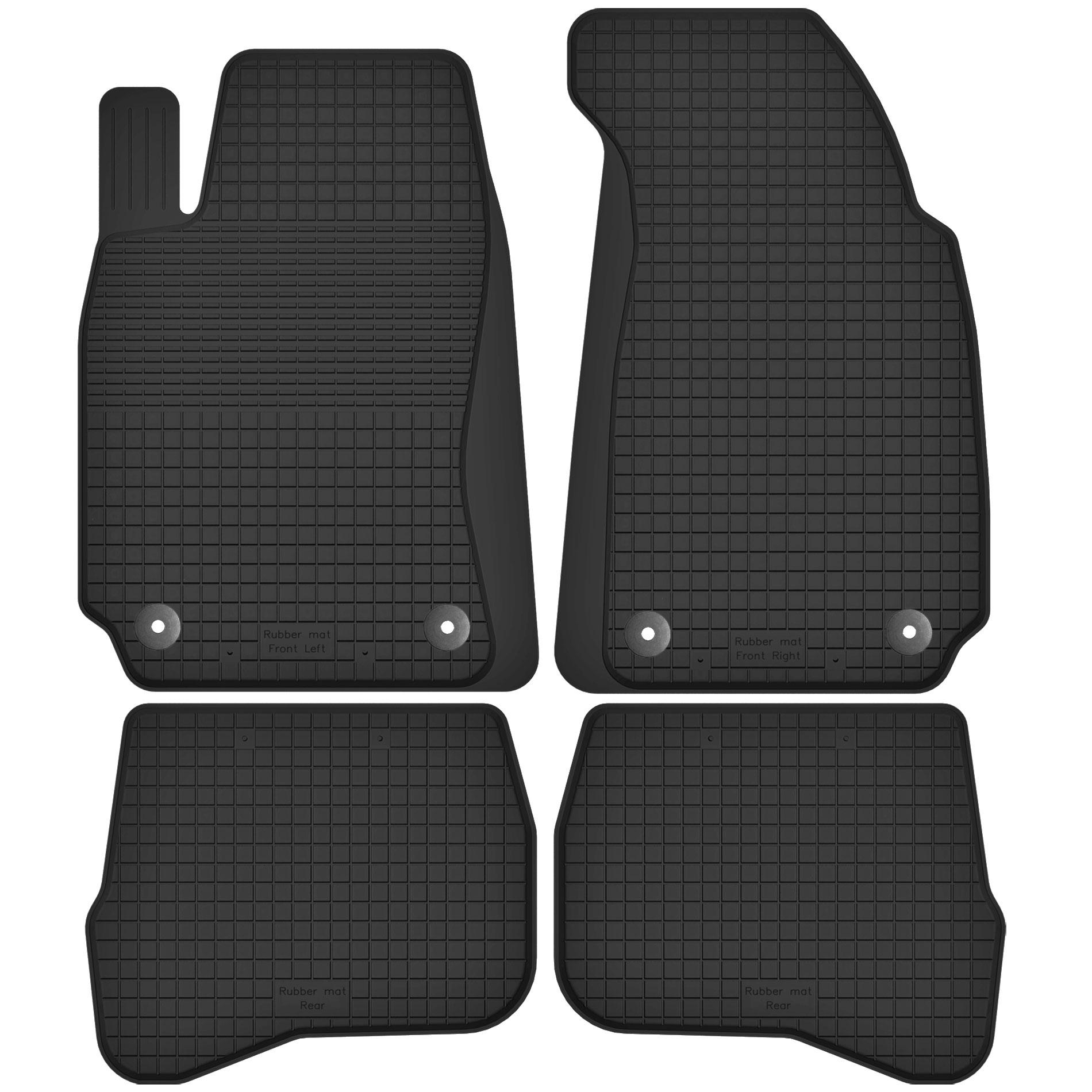 Резиновые коврики VW PASSAT B5 / B5 FL + СТОПЕРЫ