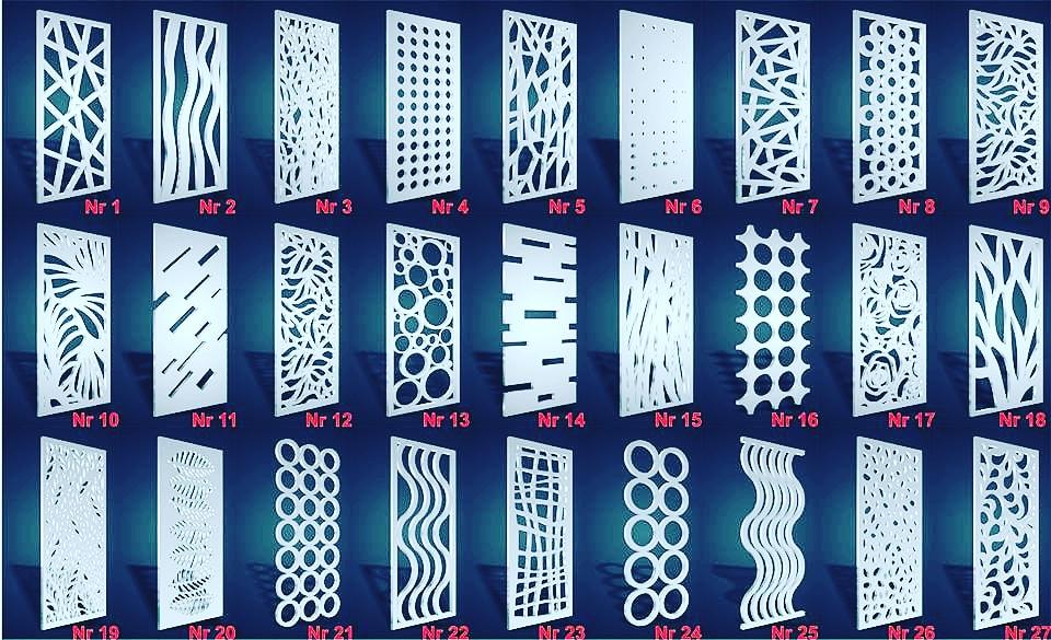 Панели решетчатые, решетки, ширмы, стенки 3D доставка товаров из Польши и Allegro на русском