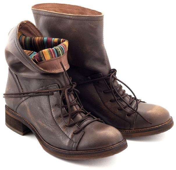 FELMINI _ -30% motorkárske kožené topánky hnedé, vintage