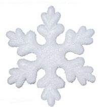 Snowflake Styrofoam Ponals 15cm 1PC