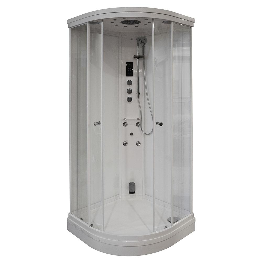 Hydromasážny sprchový kút 90x90 MUE-AF9090