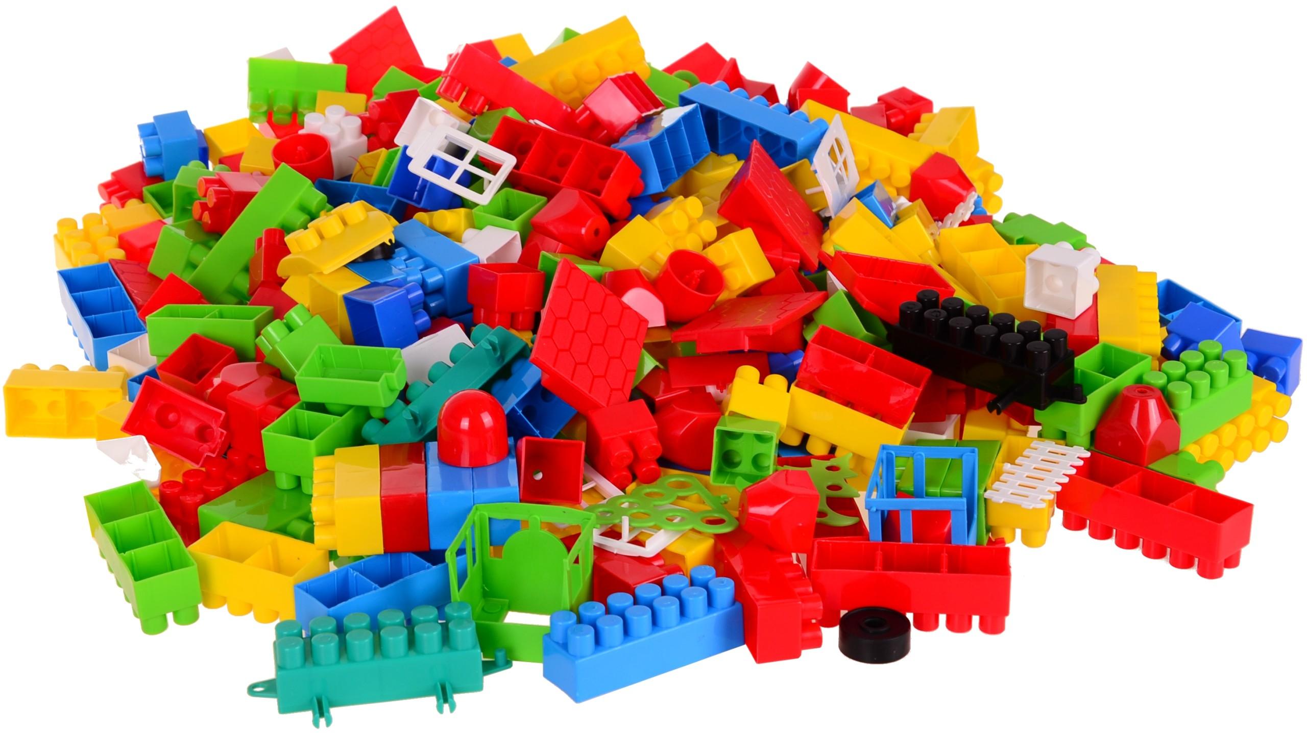 Stavebné bloky K2 BAJA 1000 ks BAG + vlak