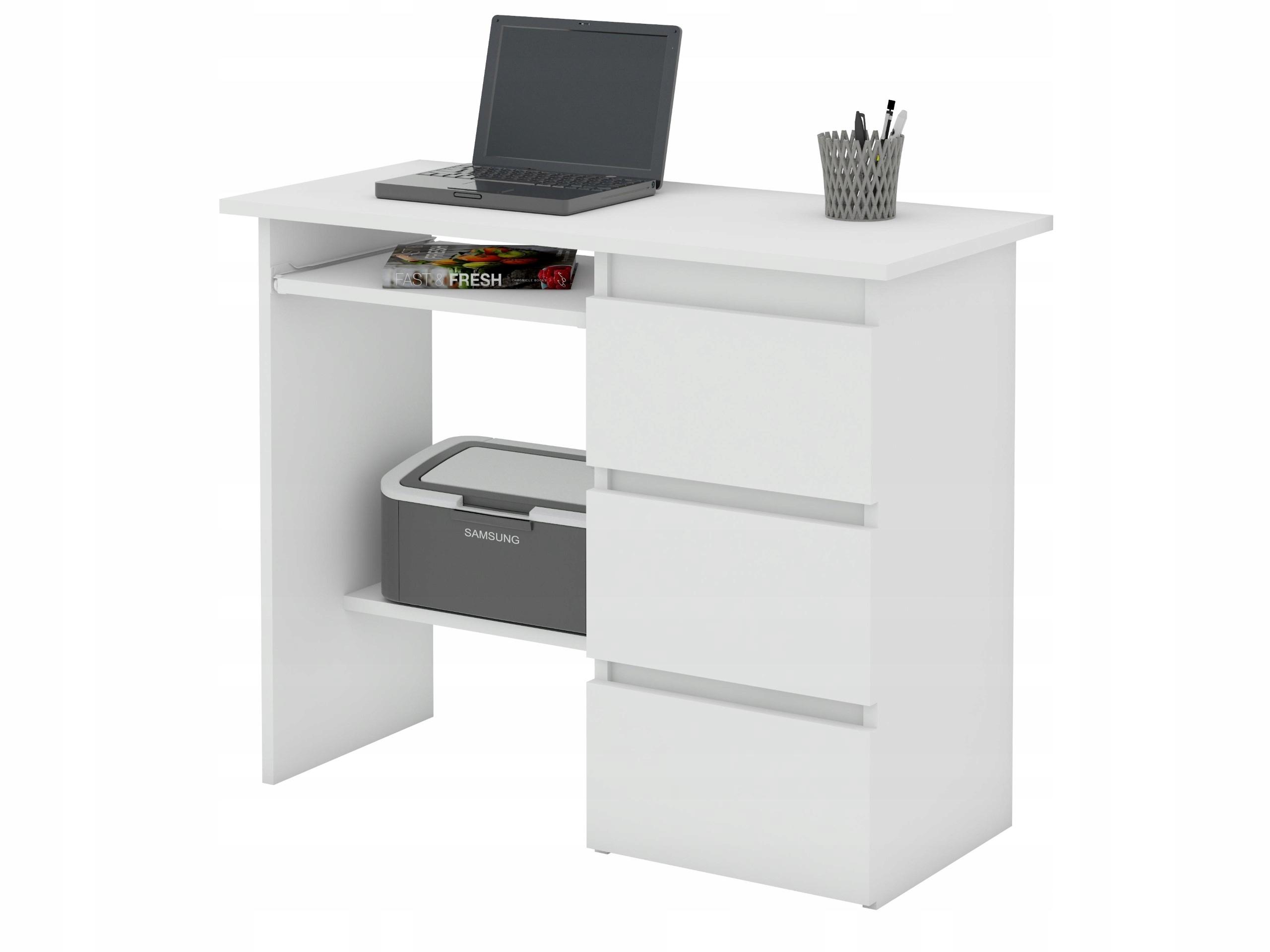 Biurko Komputerowe Beta 2 Białe Szkolne Pod Laptop