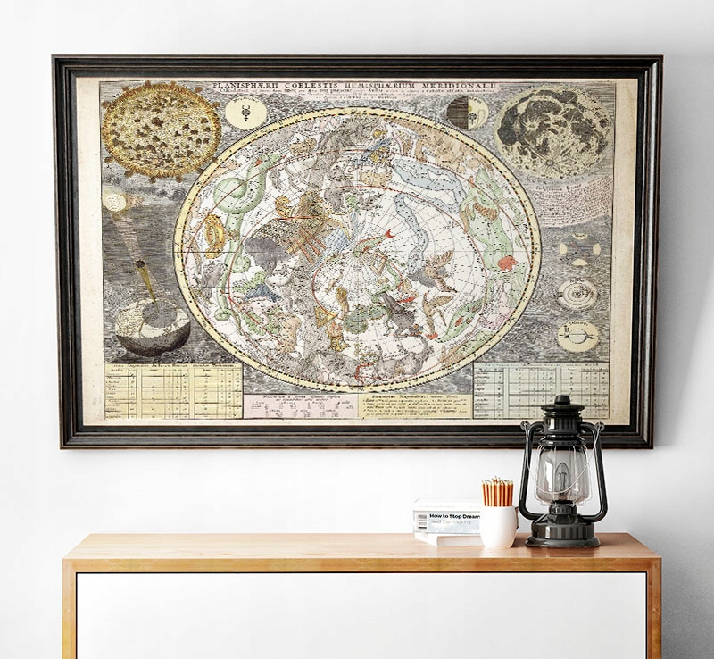 Plagát OLD STAR MAP RETRO Scand VINTAGE 50x70
