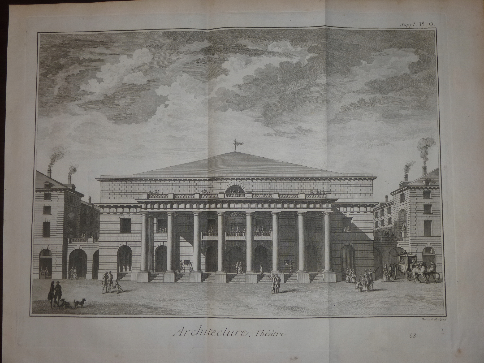 """Item !THE ENCYCLOPEDIA OF DIDEROT! THEATER """"ODEON""""! 9 EN! 1777!"""