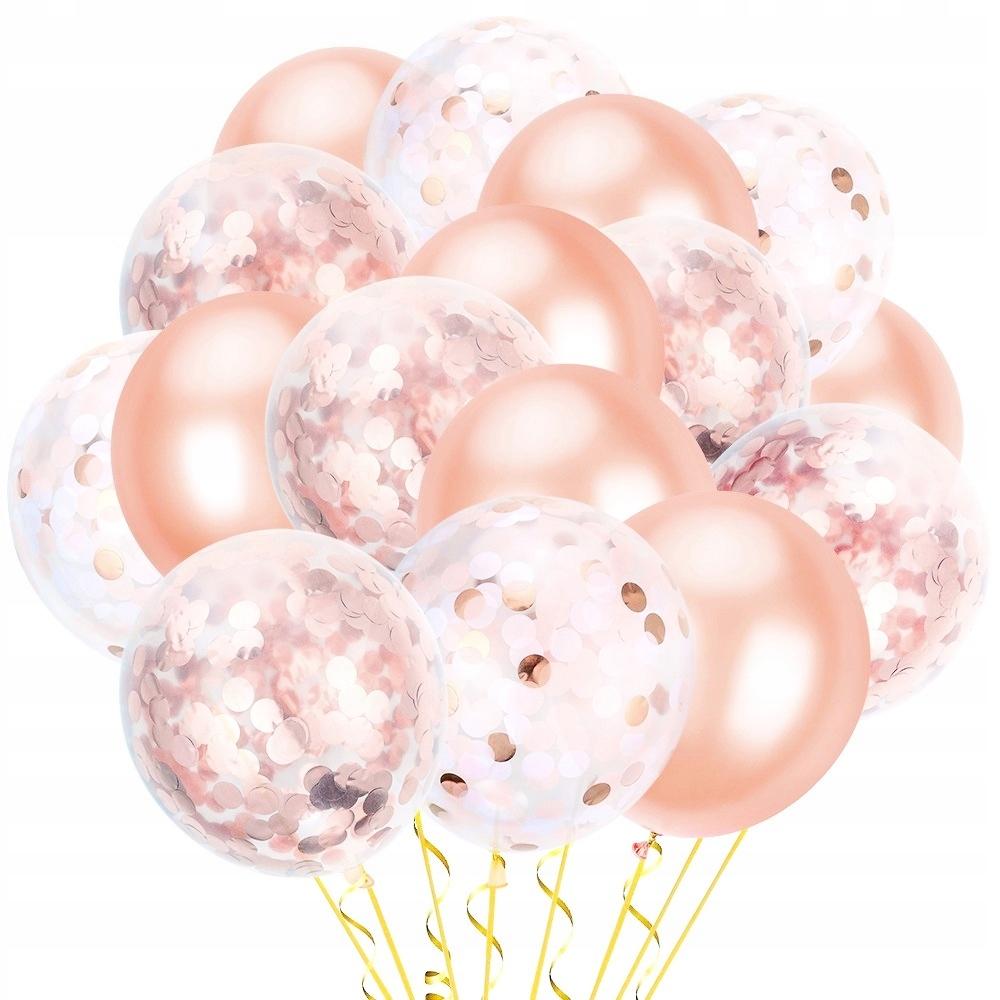 BalonY Set Розовое золото Конфетти Розовое золото