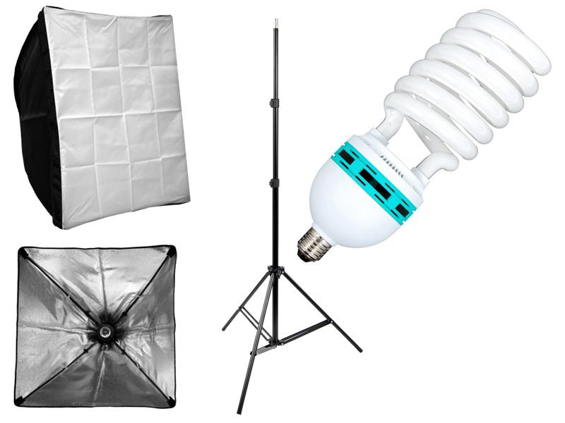 Item KIT STUDIO SOFTBOX 50x70cm TRIPOD LAMP 85W