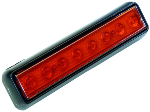 лампа 8 led 20 см стоп положение красная 12v 24v