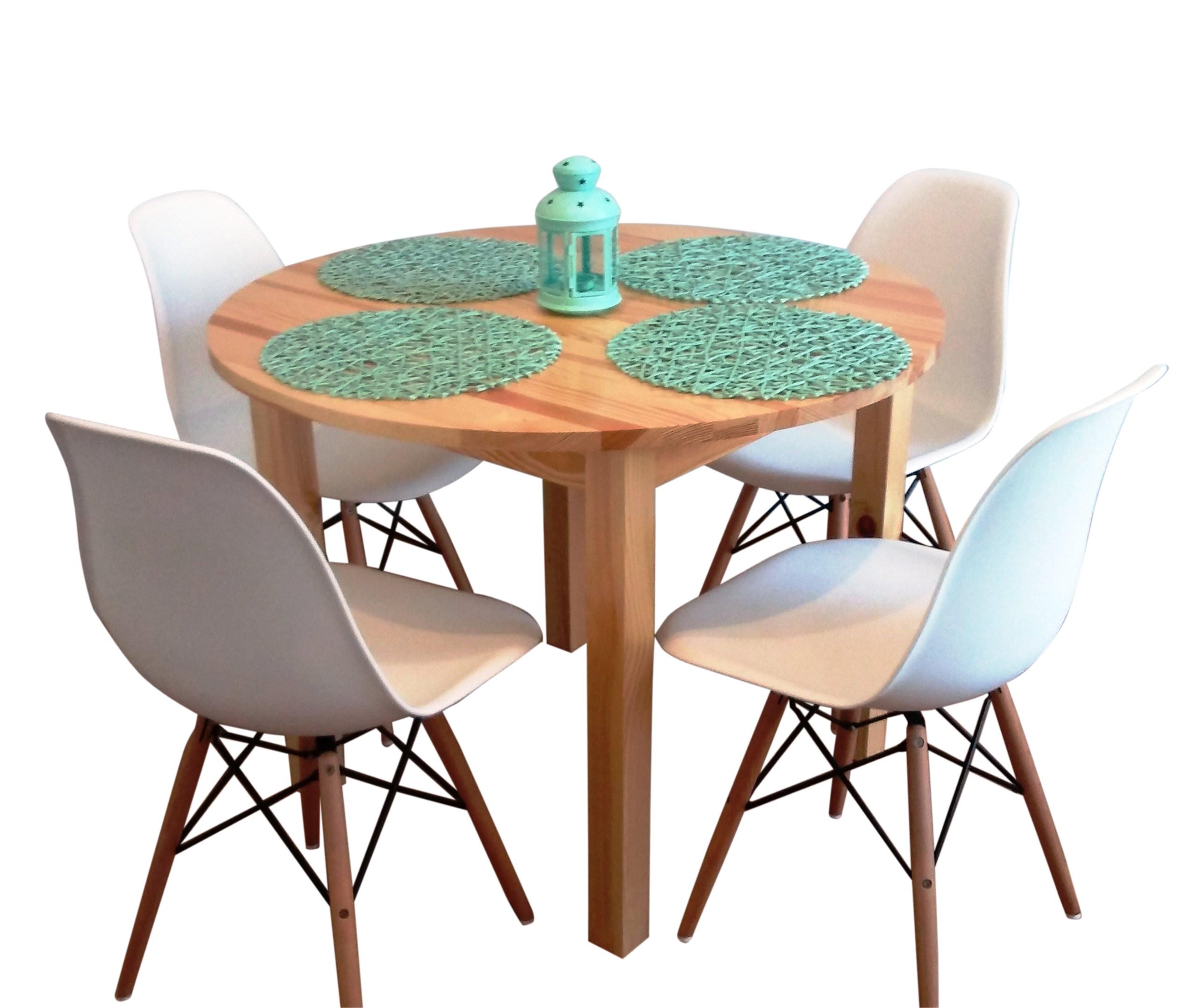 Pevný okrúhly stôl dia. 60 cm konferenčný stolík FARBY ZADARMO