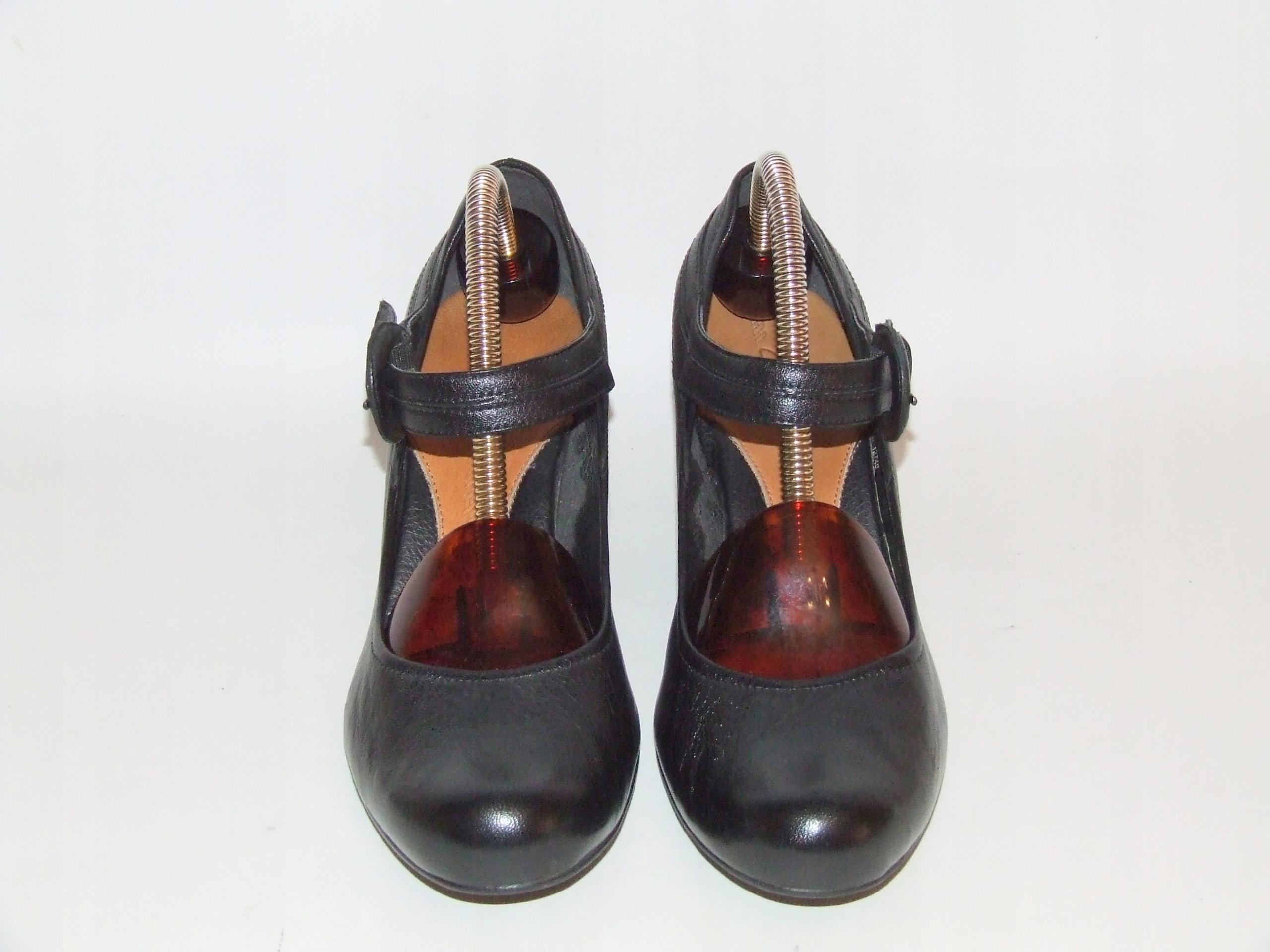 Buty ze skóry CLARKS r.37 dł.23,7 cm S.IDEALNY