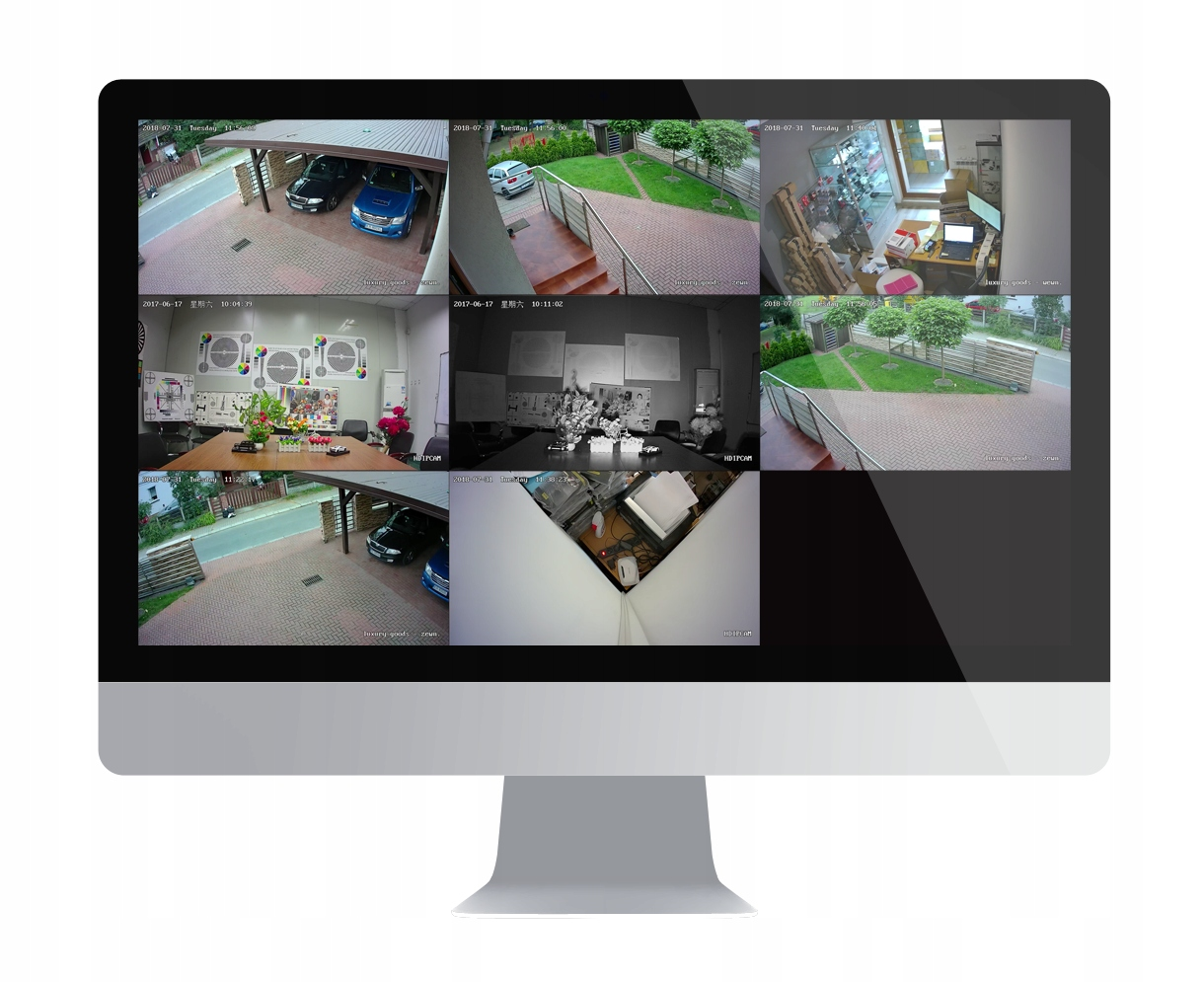 2x FULL HD SONY MONITORING H265+ NVR POE WDR IR Wyjścia wideo VGA HDMI