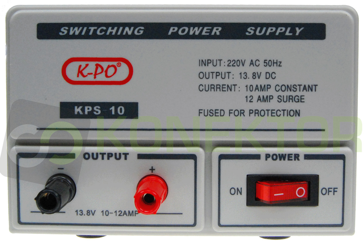Item K-KPS10 STABILIZED POWER SUPPLY 13.8 V 12A