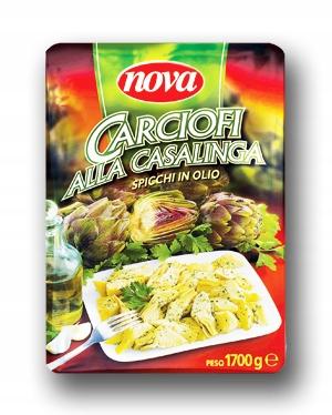 Karczochy w oleju włoskie Carciofi Nova 1700g