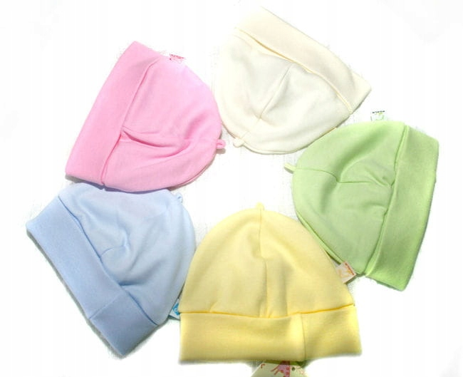 Bawełniania czapeczka smerfetka dla noworodków !!