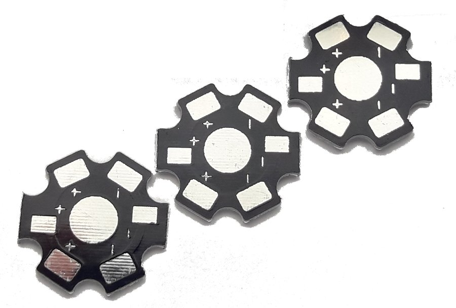3шт Радиатор-база PCB 20 мм LED 1W 3W 5W