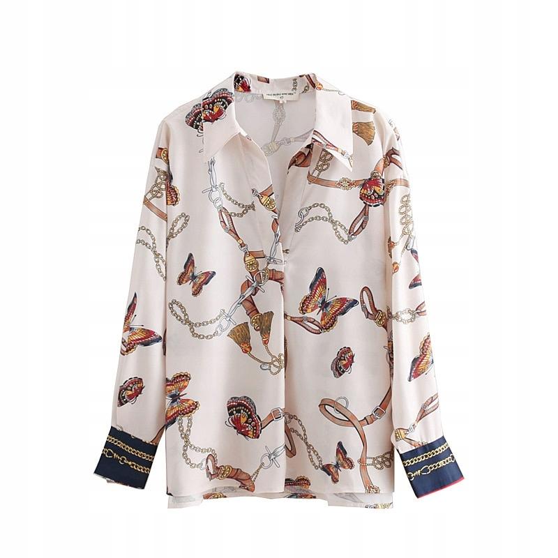 Dámska košeľa bez gombíkov vintage retro štýl L.