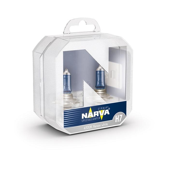2x H7 NARVA RANGE POWER WHITE 4500K XENON EFEKT