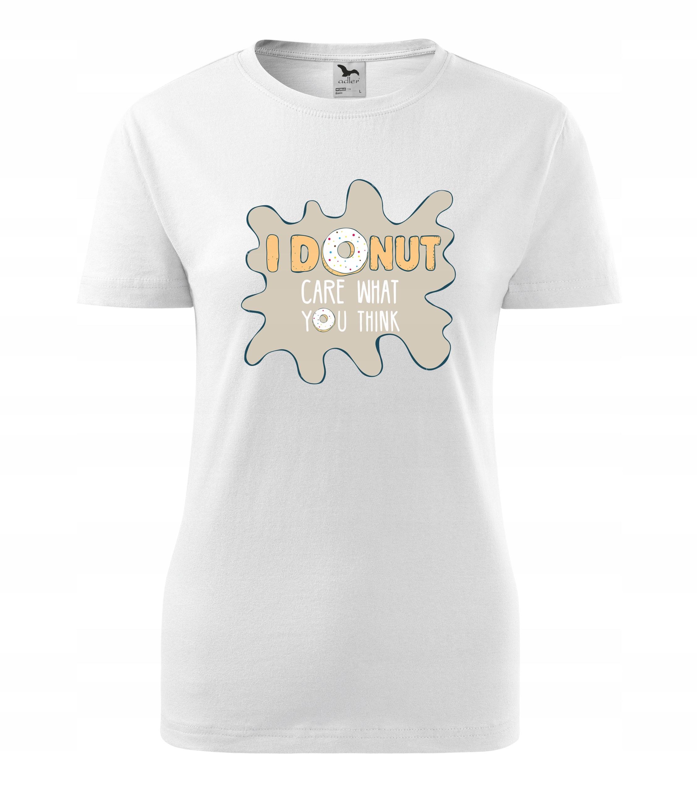 koszulka damska I Donut prezent r. L